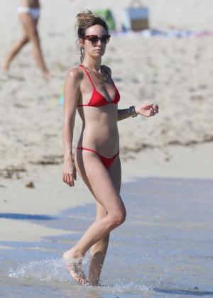 Catt Sadler in Red Bikini -18