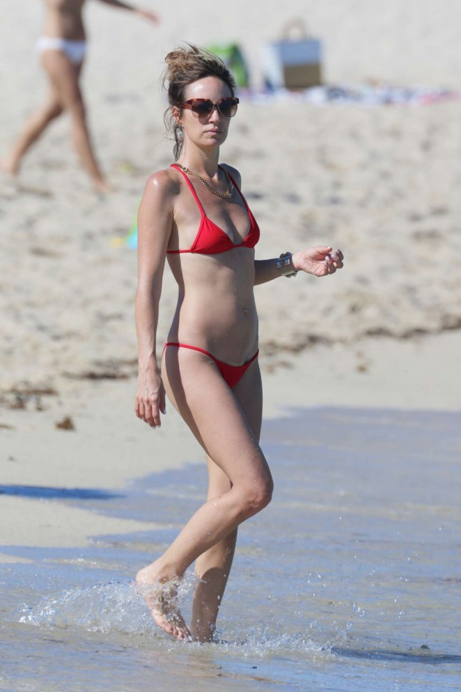 Catt Sadler in Red Bikini -18