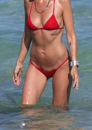 Catt Sadler in Red Bikini -23