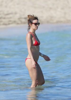 Catt Sadler in Red Bikini -24
