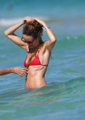 Catt Sadler in Red Bikini -25
