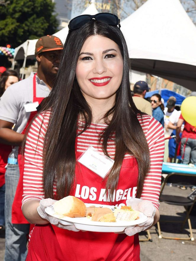Celeste Thorson - Los Angeles Mission Easter Celebration in LA