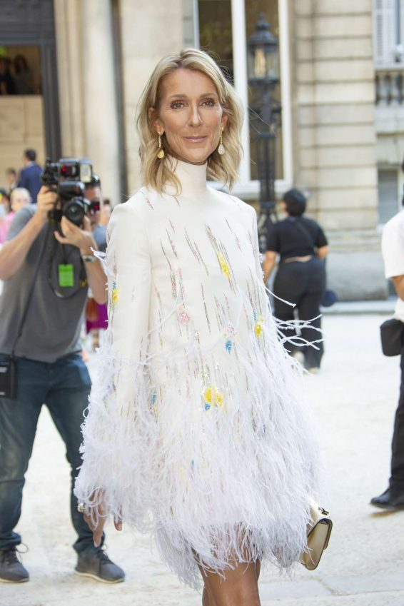 Celine Dion - Arrives at Valentino Haute Couture Show in Paris