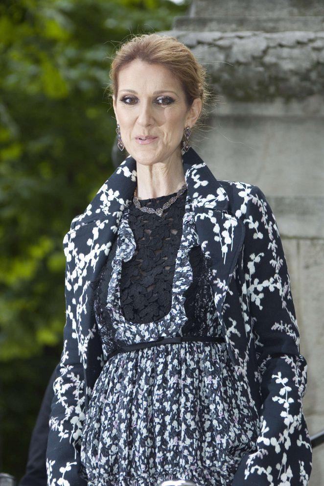 Celine Dion – Giambattista Valli Fashion Haute-Couture F/W 2016/2017 in Paris