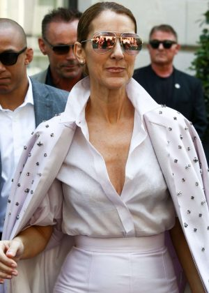 Celine Dion - Leaves Her Hotel in Paris