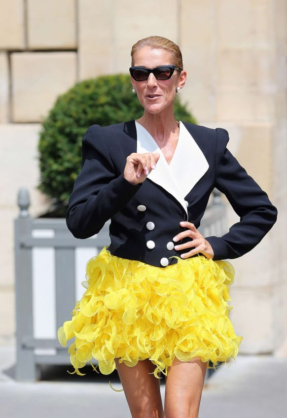 Celine Dion - Leaves Le Crillon in Paris