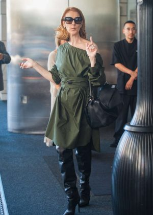 Celine Dion - Leaving her hotel in LA