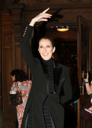 Celine Dion - Leaving the Opera Garnier in Paris