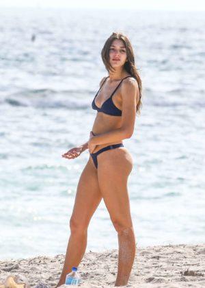 Casey Martin in Black Bikini on the beach in Santa Monica Pic 5 of 35