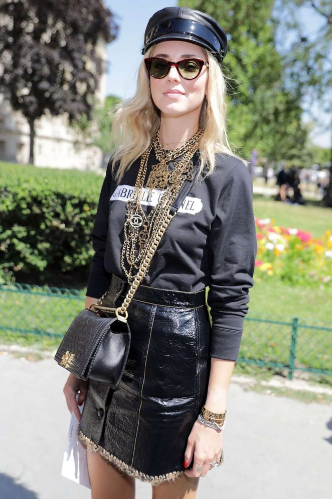Chaiara Ferragni - Chanel Fashion Show 2017 in Paris