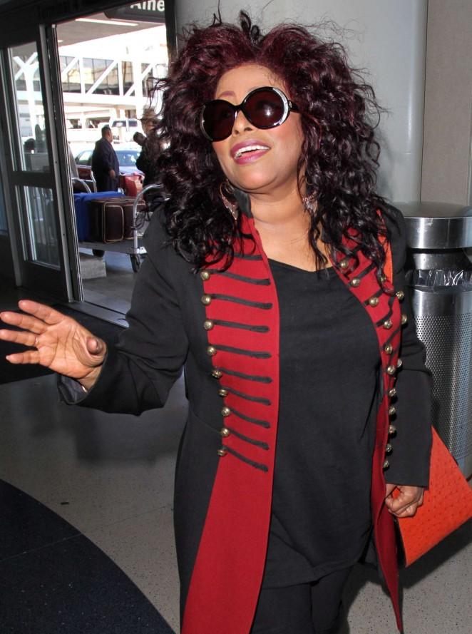 Chaka Khan at LAX Airport in Los Angeles