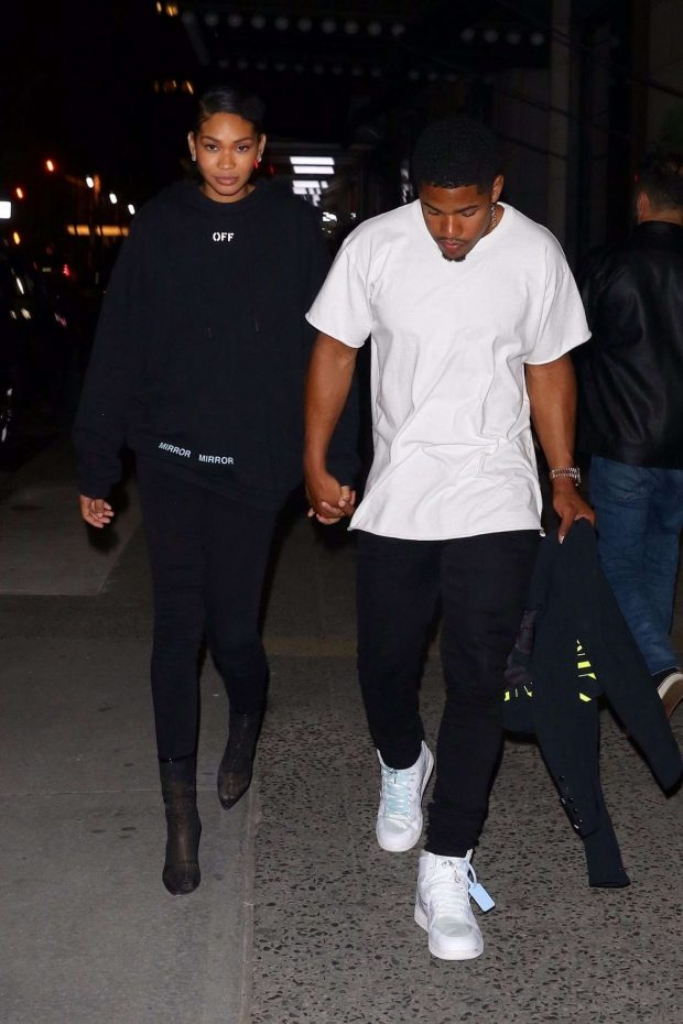 Chanel Iman and Sterling Shepard: Leaves Off-White Dinner at LAvenue -02