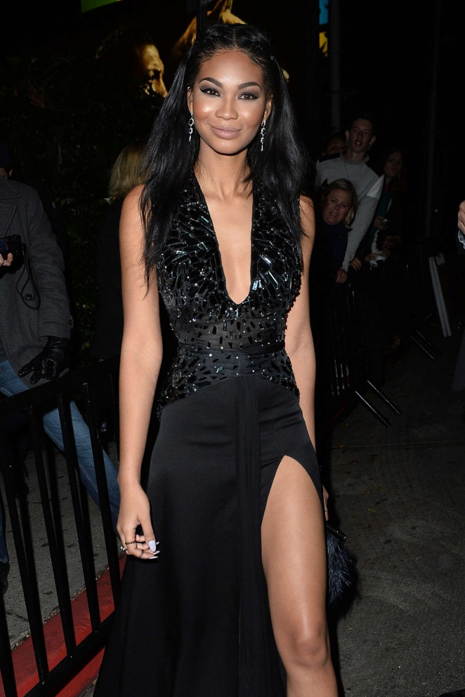 Chanel Iman - Arrives to the W Magazine Golden Globe Party in LA
