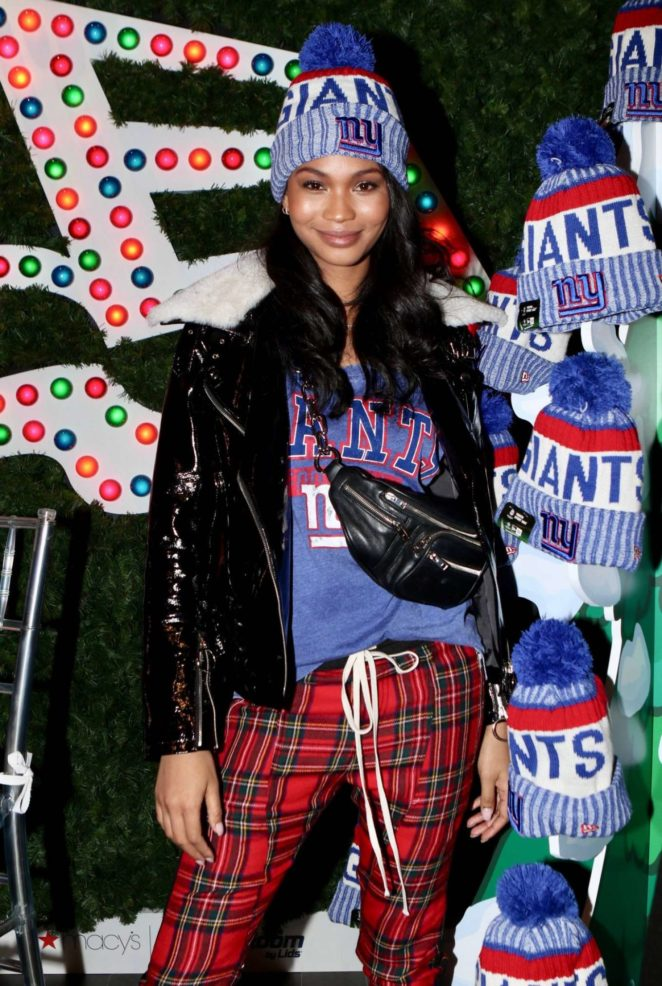 Chanel Iman at Macy's Herald Square