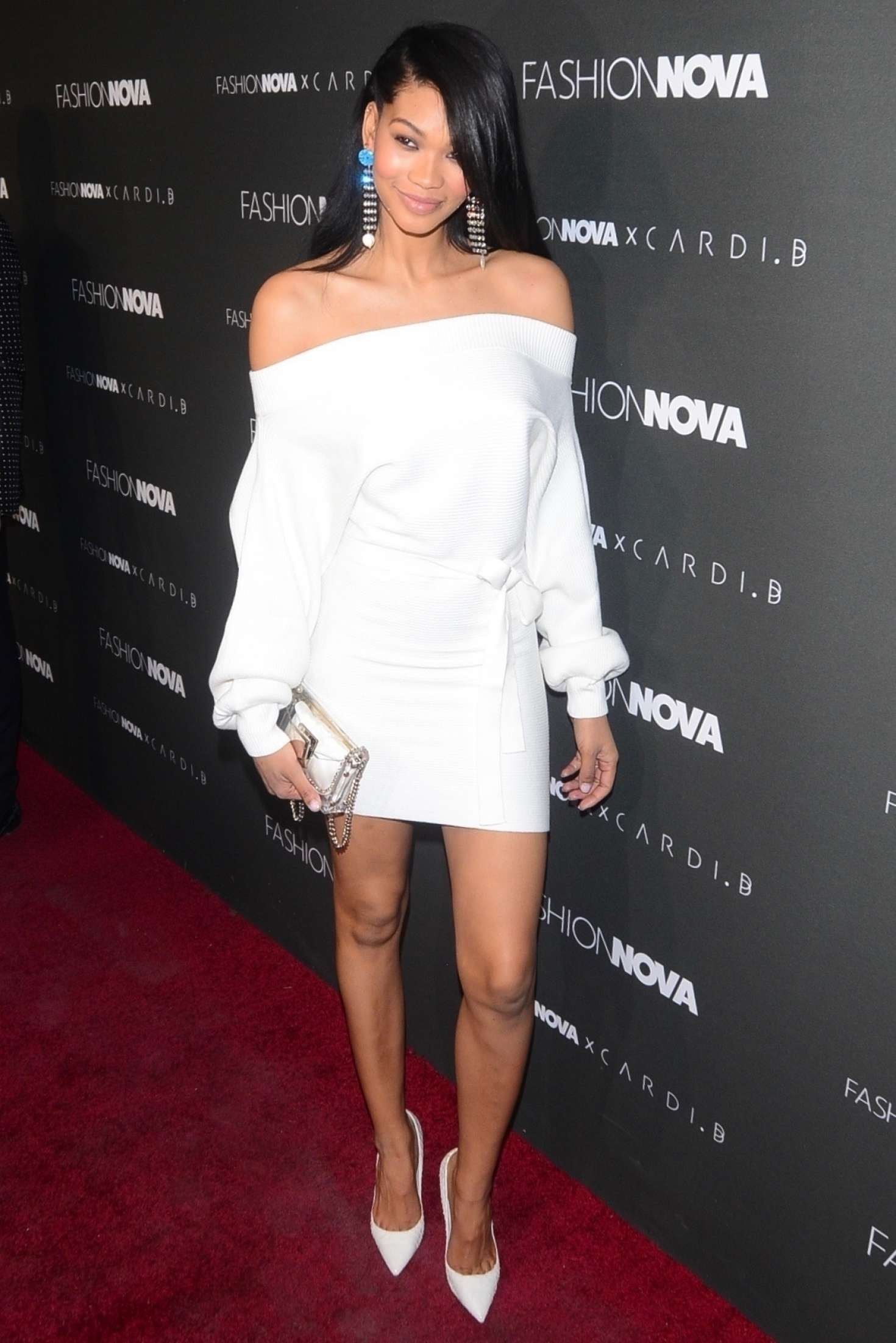 Chanel Iman – Fashion Nova x Cardi B Event in Hollywood