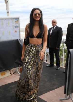 Chanel Iman: Fendi by Karl Lagerfeld at Croisette -05