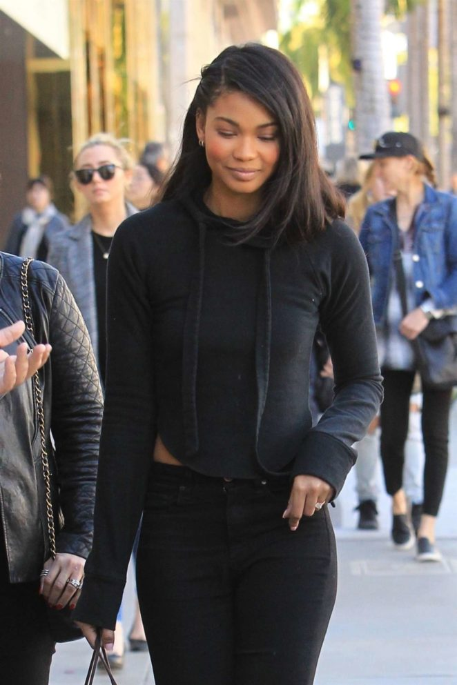 Chanel Iman - Holiday shopping trip in Beverly Hills