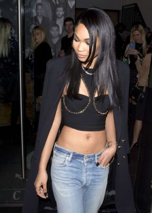 Chanel Iman in Jeans at Catch LA in West Hollywood