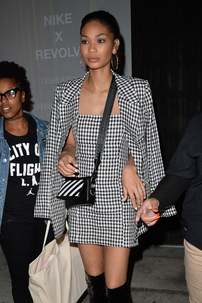 Chanel Iman - Leaves a Nike X Revolve Party in West Hollywood