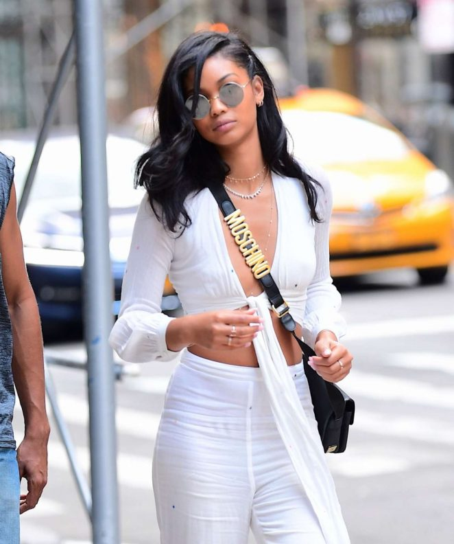 Chanel Iman - Out and about in NYC