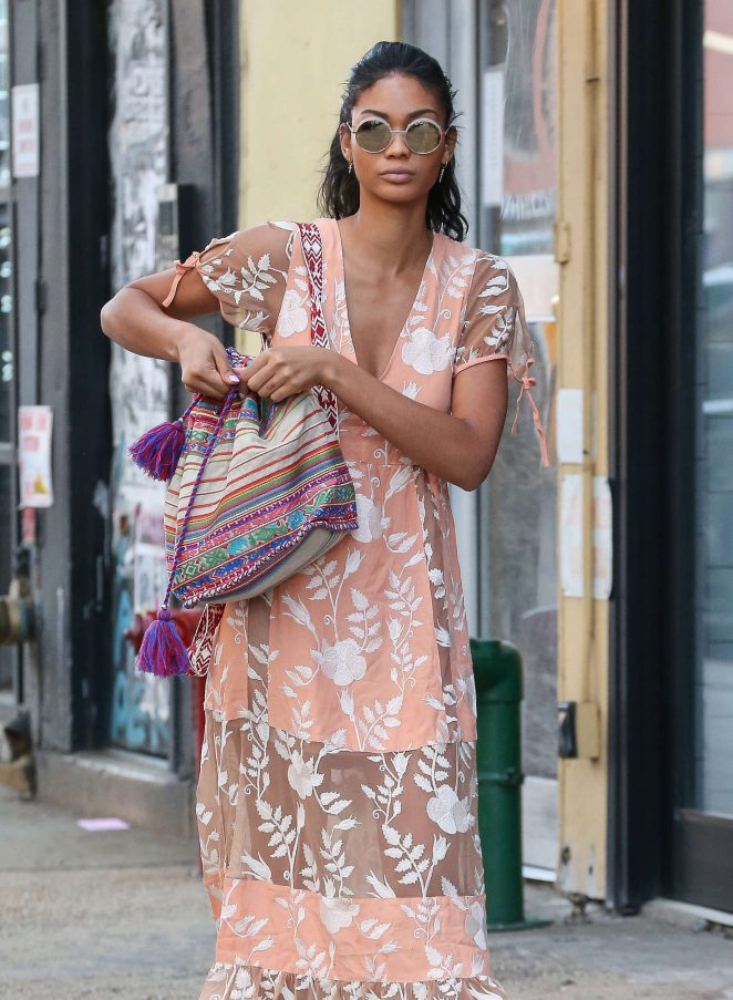 Chanel Iman out in New York City