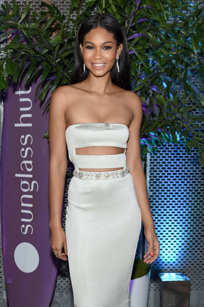 Chanel Iman - Sunglass Hut 'Electric Summer' Campaign Kick Off Party in NYC