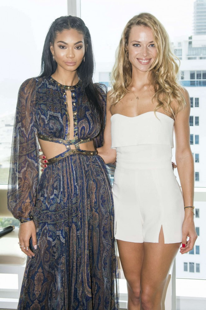 Chanel Inman and Hannah Fergurson - Sports Illustrated Swimsuit 2016 Press Conference in Miami