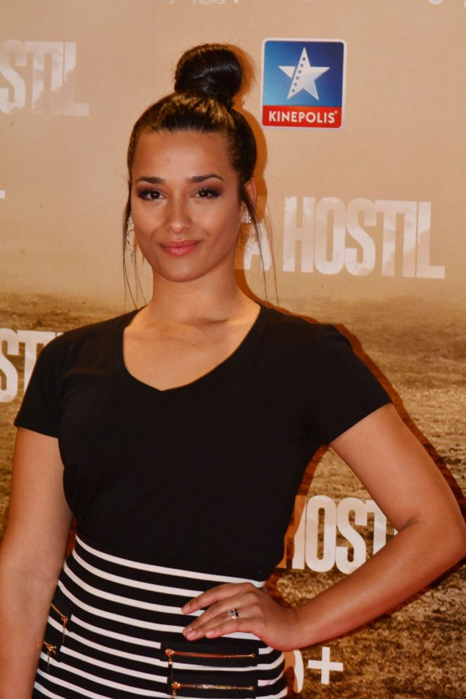 Chanel Terrero - 'Zona Hostil' Premiere in Madrid
