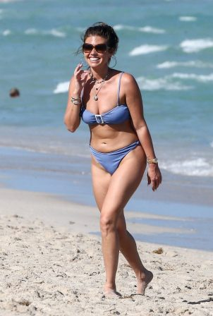 Chanel West Coast - In lavender bikini in Miami