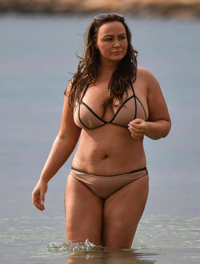 Chanelle Hayes in Bikini on the beach in Alicante