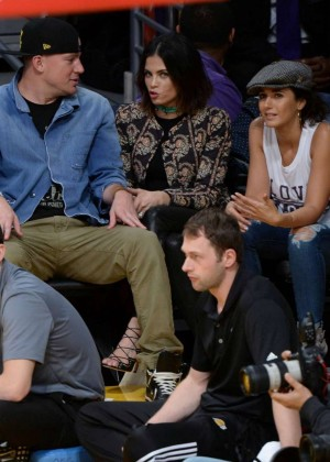 Channing Tatum, Jenna Dewan and Emmanuelle Chriqui Watch Lakers Game in LA