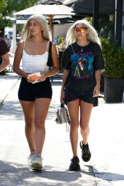 Chantel Jeffries and Cindy Kimberly in Shorts - Out for lunch in LA