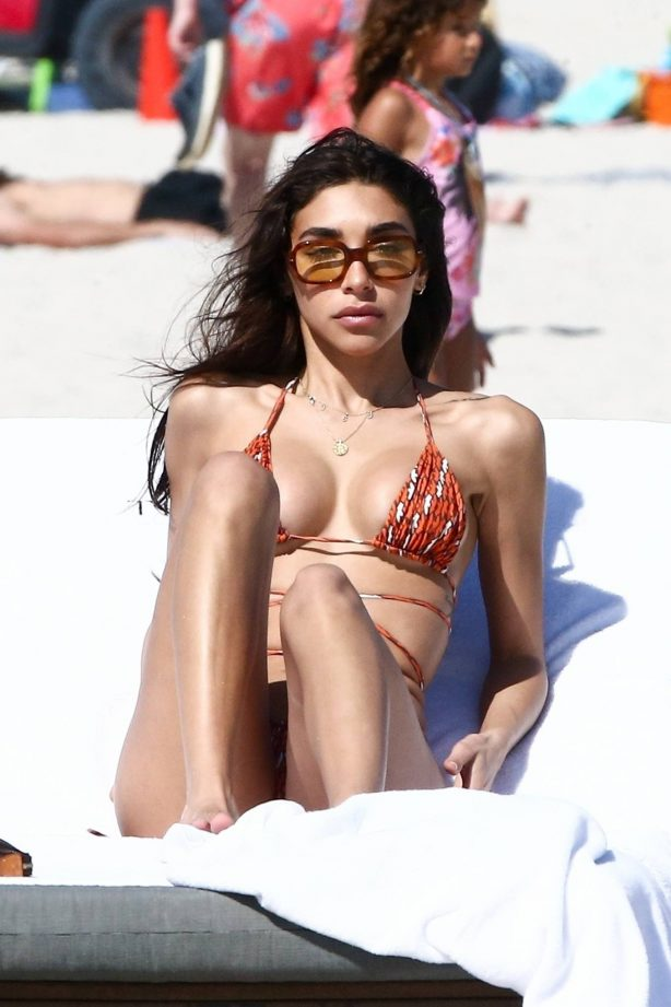 Chantel Jeffries and Jocelyn Chew - Bikini candids in Miami