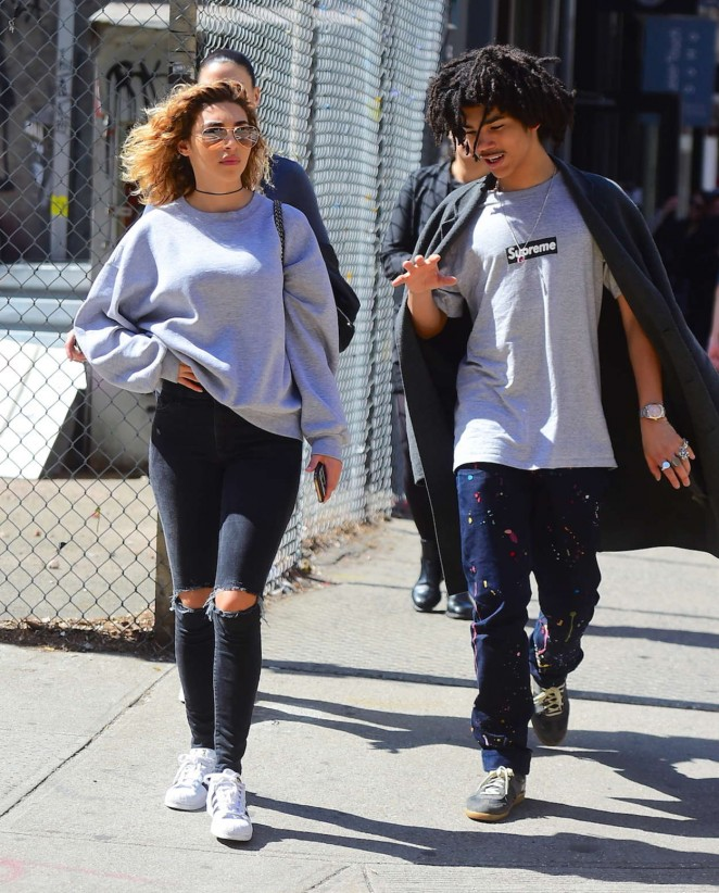 Chantel Jeffries and Luka Sabbat out in Soho