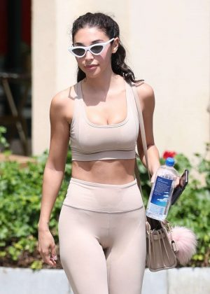 Chantel Jeffries - Arrives at hot pilates class in West Hollywood