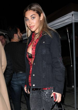 Chantel Jeffries at Delilah club in West Hollywood