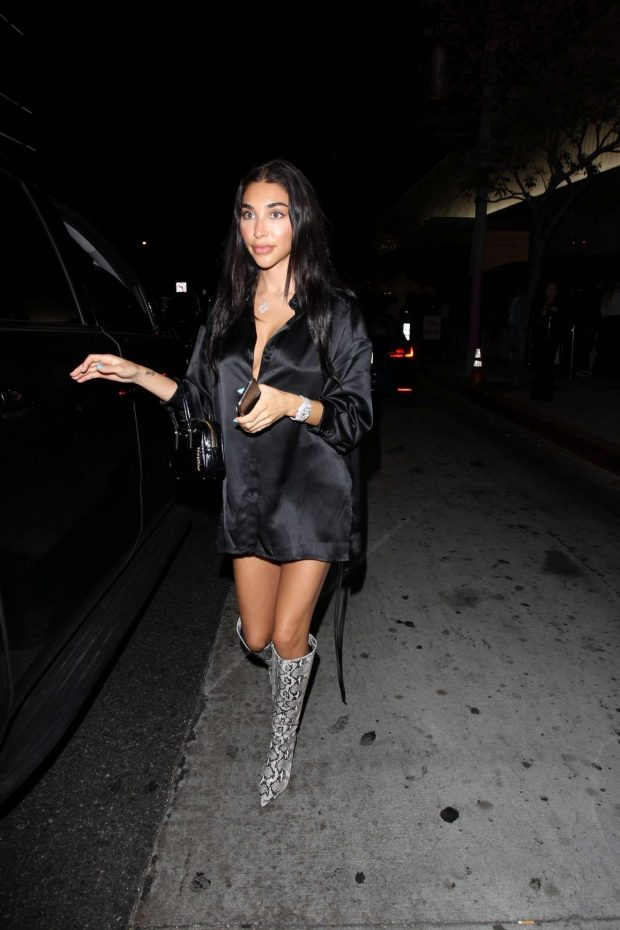 Chantel Jeffries - Exits Bootsy Bellows in West Hollywood