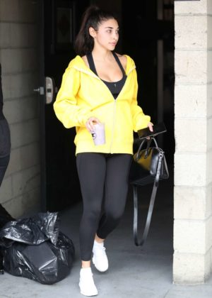 Chantel Jeffries - Heading to the gym in LA