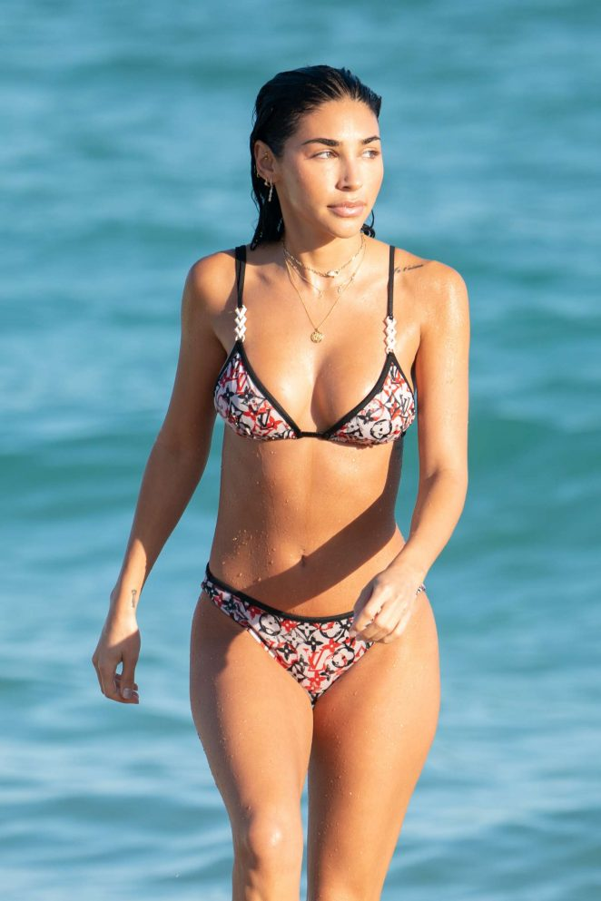 Chantel Jeffries in Bikini at the Beach in Miami