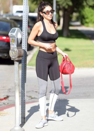 Chantel Jeffries in Sports Bra and Tights out in West Hollywood