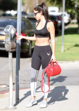 Chantel Jeffries in Tights and Sports Bra - Heads the Gym in West Hollywood