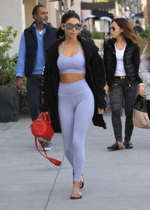 Chantel Jeffries in Tights - Heads to lunch in Beverly Hills
