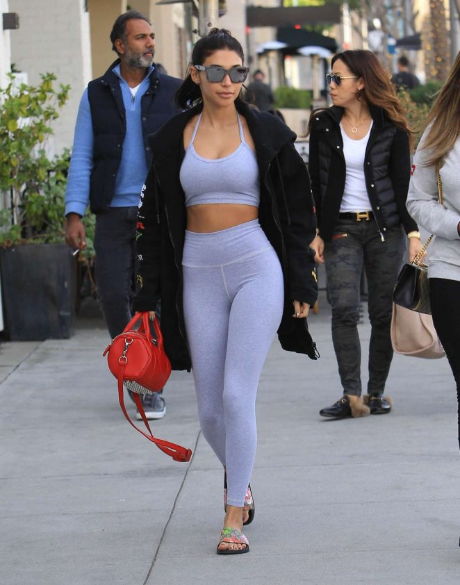 Chantel Jeffries in Tights – Heads to lunch in Beverly Hills