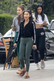 Chantel Jeffries in Tights - Out for lunch in Beverly Hills