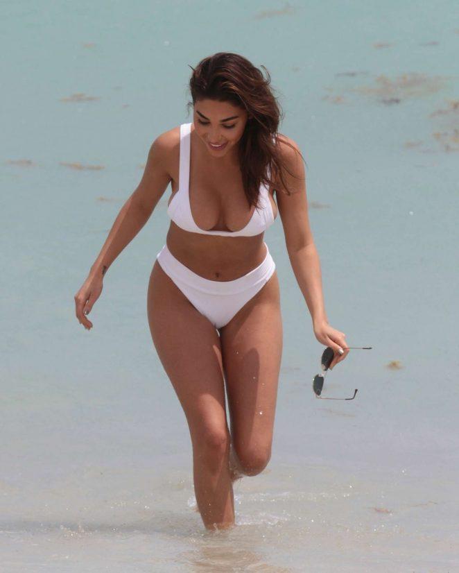 Chantel Jeffries in White Bikini in Miami
