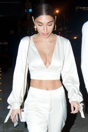 Chantel Jeffries in White Outfit - Out in Los Angeles