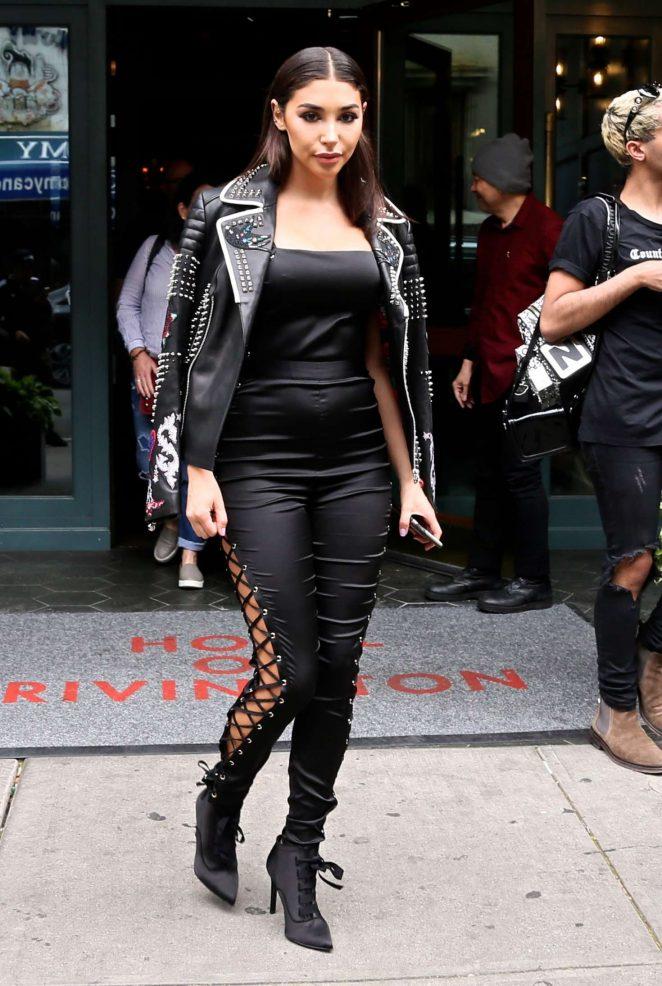 Chantel Jeffries Leaves Lower East Side Hotel in New York City