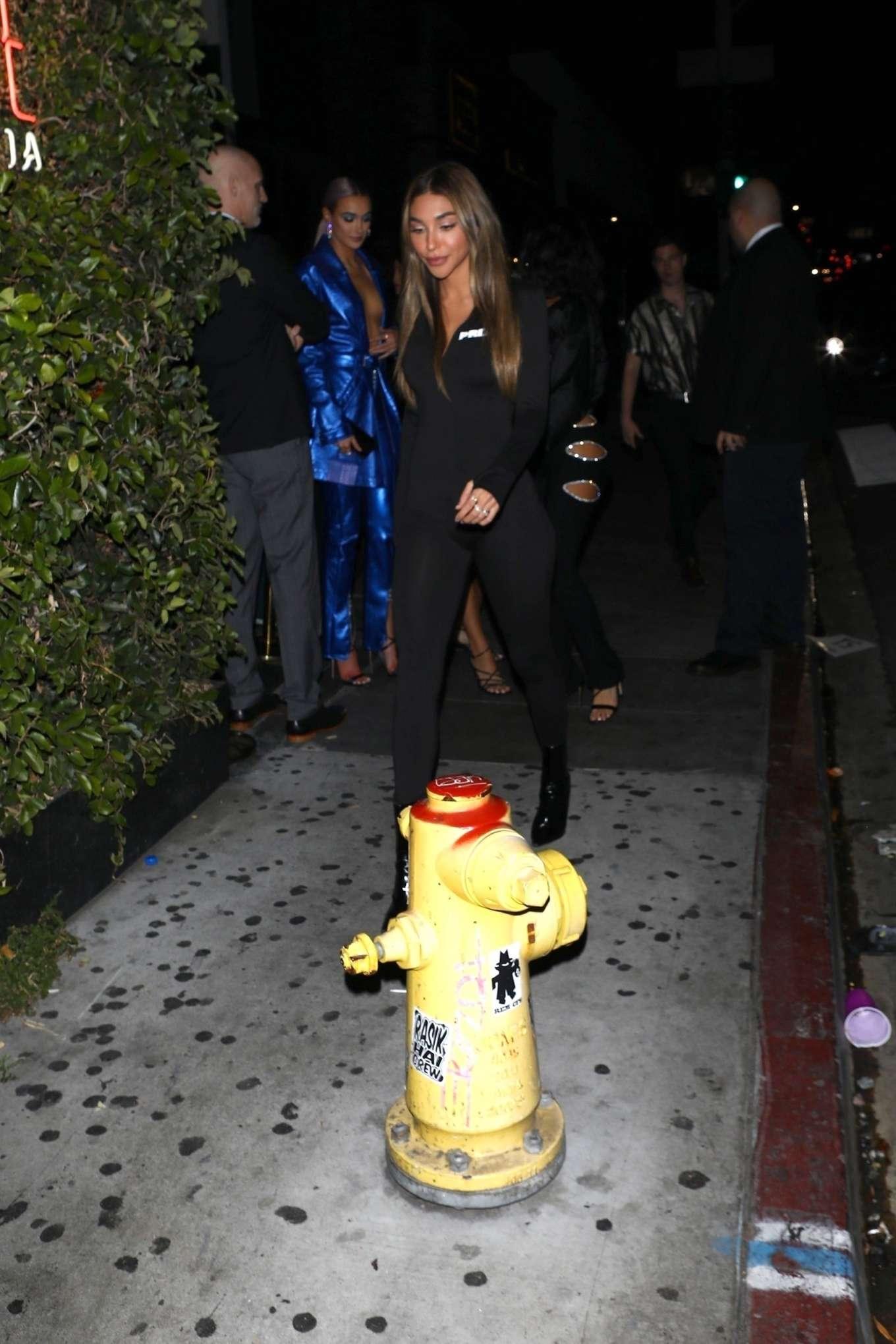 Chantel Jeffries 2020 : Chantel Jeffries – Leaving Billie Eilishs post Grammy Awards party-04
