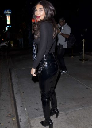 Chantel Jeffries - Leaving 'Petite' Restaurant in West Hollywood