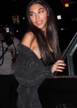Chantel Jeffries - Leaving the Delilah Club in West Hollywood